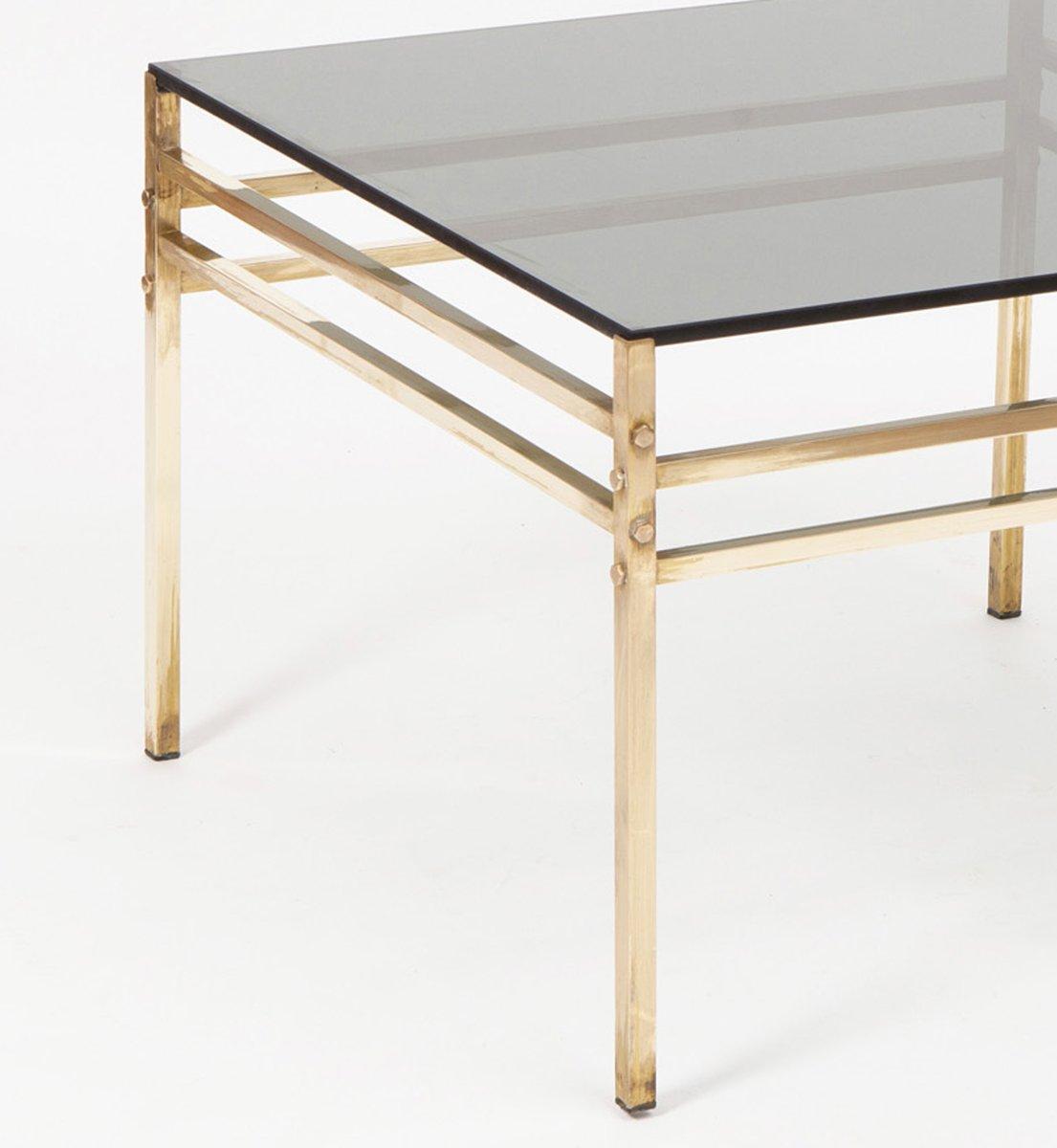 hollywood regency messing beistelltisch bei pamono kaufen. Black Bedroom Furniture Sets. Home Design Ideas
