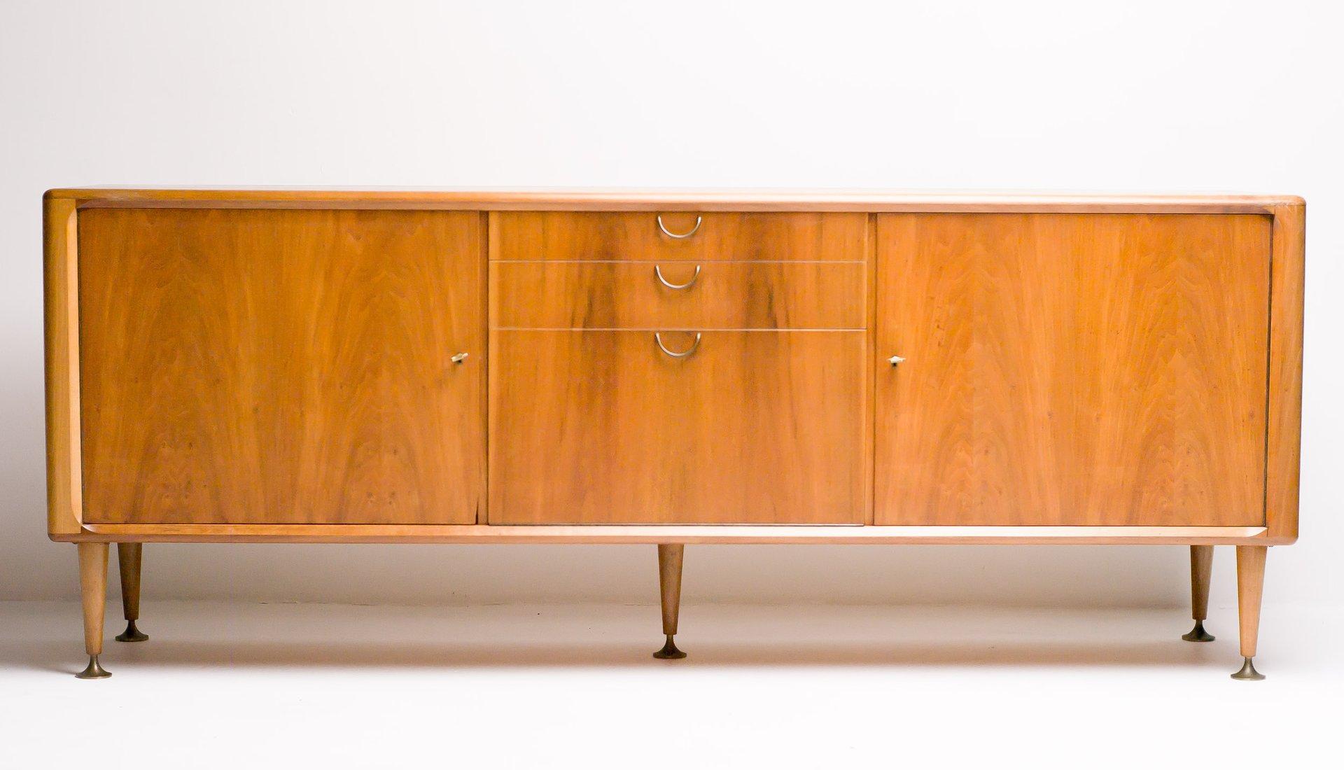 Mid Century Dutch Modern Walnut Sideboard By A. A. Patijn For Zijlstra  Joure, 1950s
