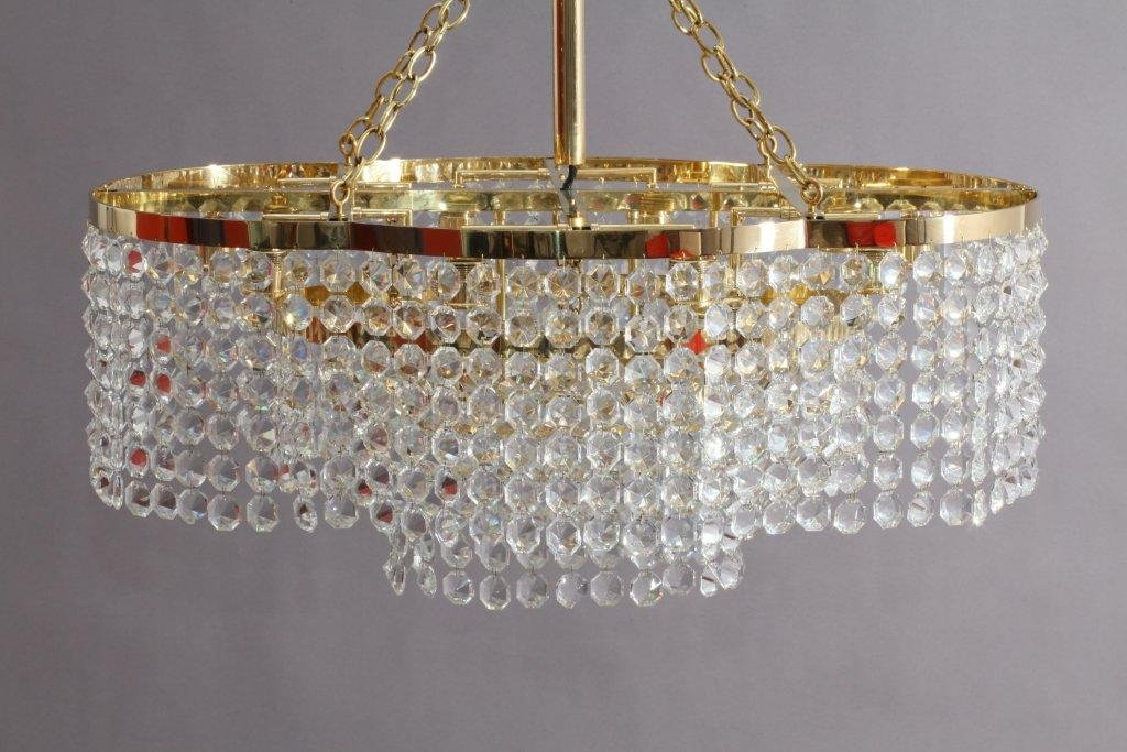 Modernist hand cut crystal glass chandelier from bakalowits 1950 modernist hand cut crystal glass chandelier from bakalowits 1950 aloadofball Choice Image