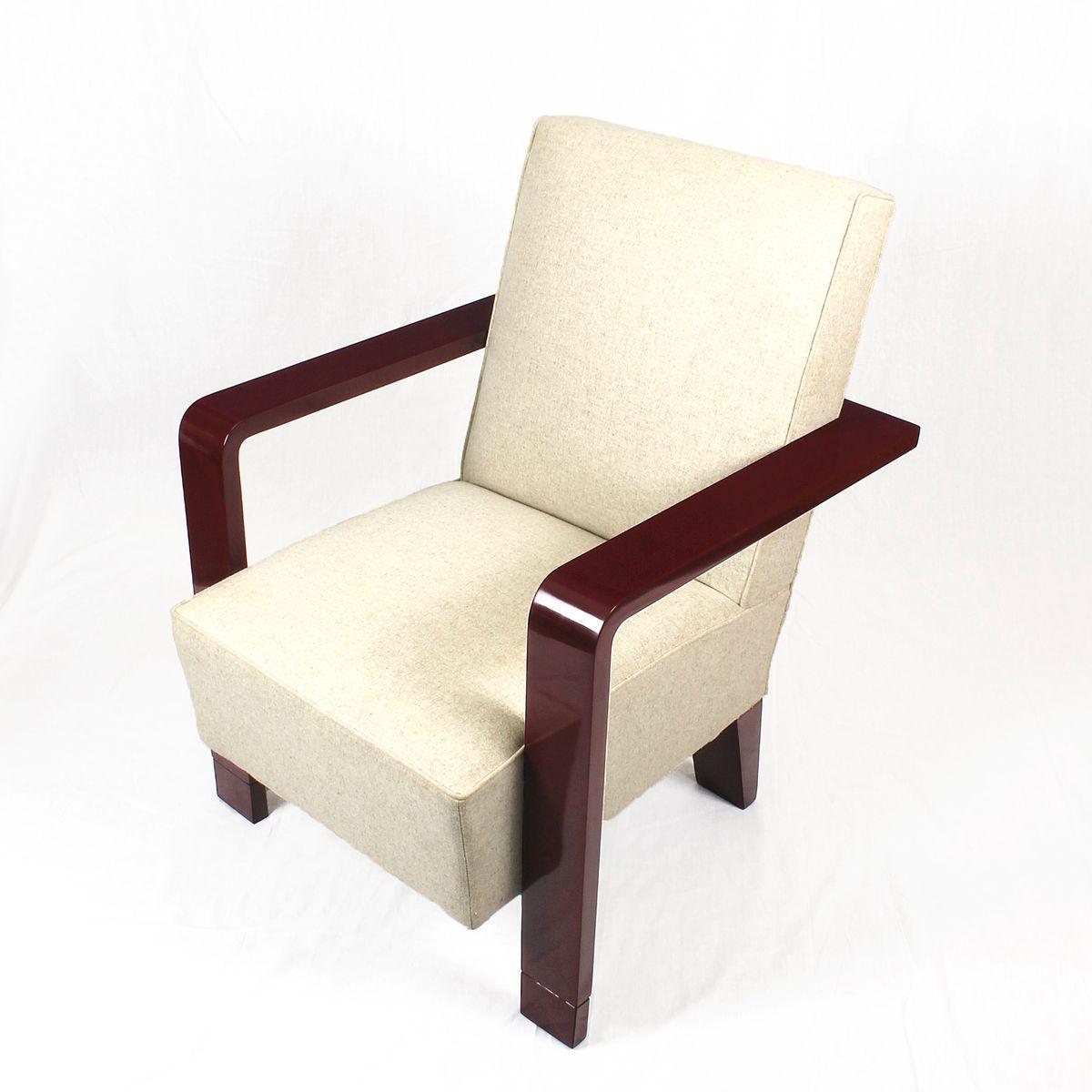 kubistische art deco sessel 1930er 2er set bei pamono kaufen. Black Bedroom Furniture Sets. Home Design Ideas