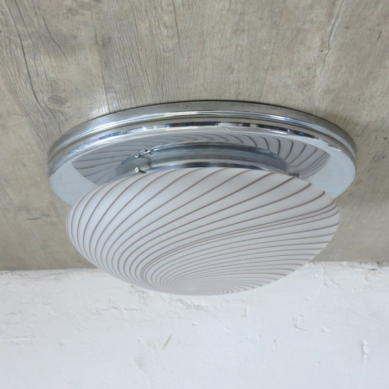 Vintage italian ceiling light with spiral pattern for sale at pamono vintage italian ceiling light with spiral pattern aloadofball Gallery