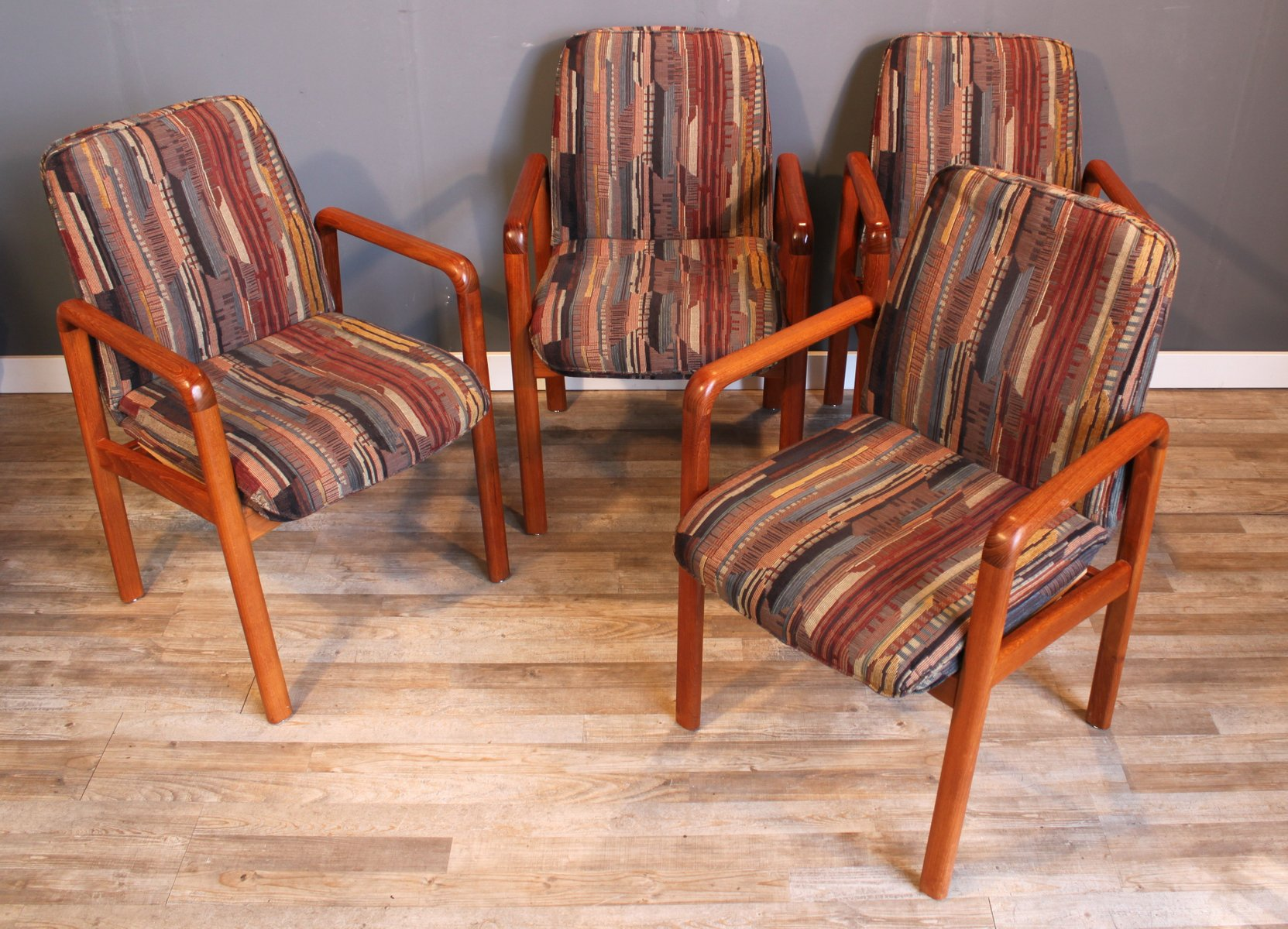Mid Century Danish Teak Dining Chairs From Dyrlund Set Of 4