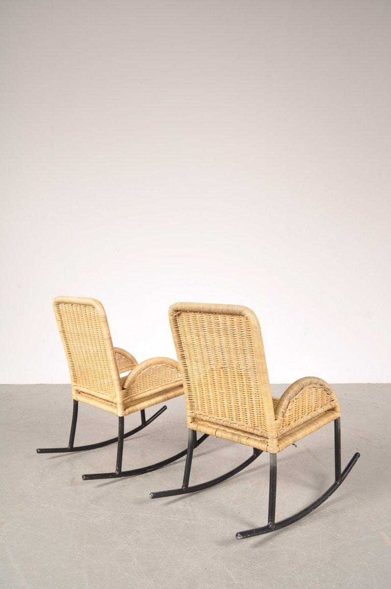 kinder schaukelst hle aus korbgeflecht 1950er 2er set bei pamono kaufen. Black Bedroom Furniture Sets. Home Design Ideas
