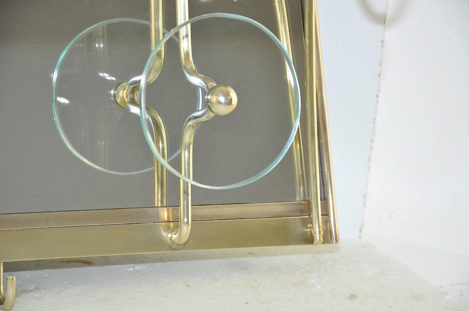 Italienische glass messing garderobe 1950er bei pamono for Garderobe italienisches design