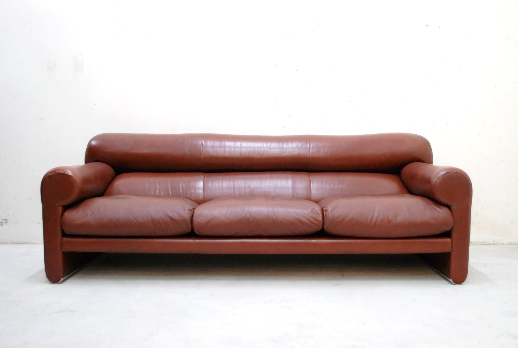 Italian Leather Sofa By Sergio Mazza And Giuliana Gramigna For Poltrona Frau
