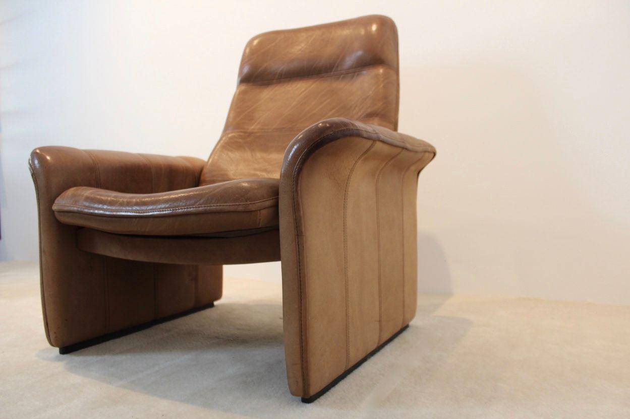 ds 50 sessel aus braunem b ffelleder von de sede 1960er bei pamono kaufen. Black Bedroom Furniture Sets. Home Design Ideas