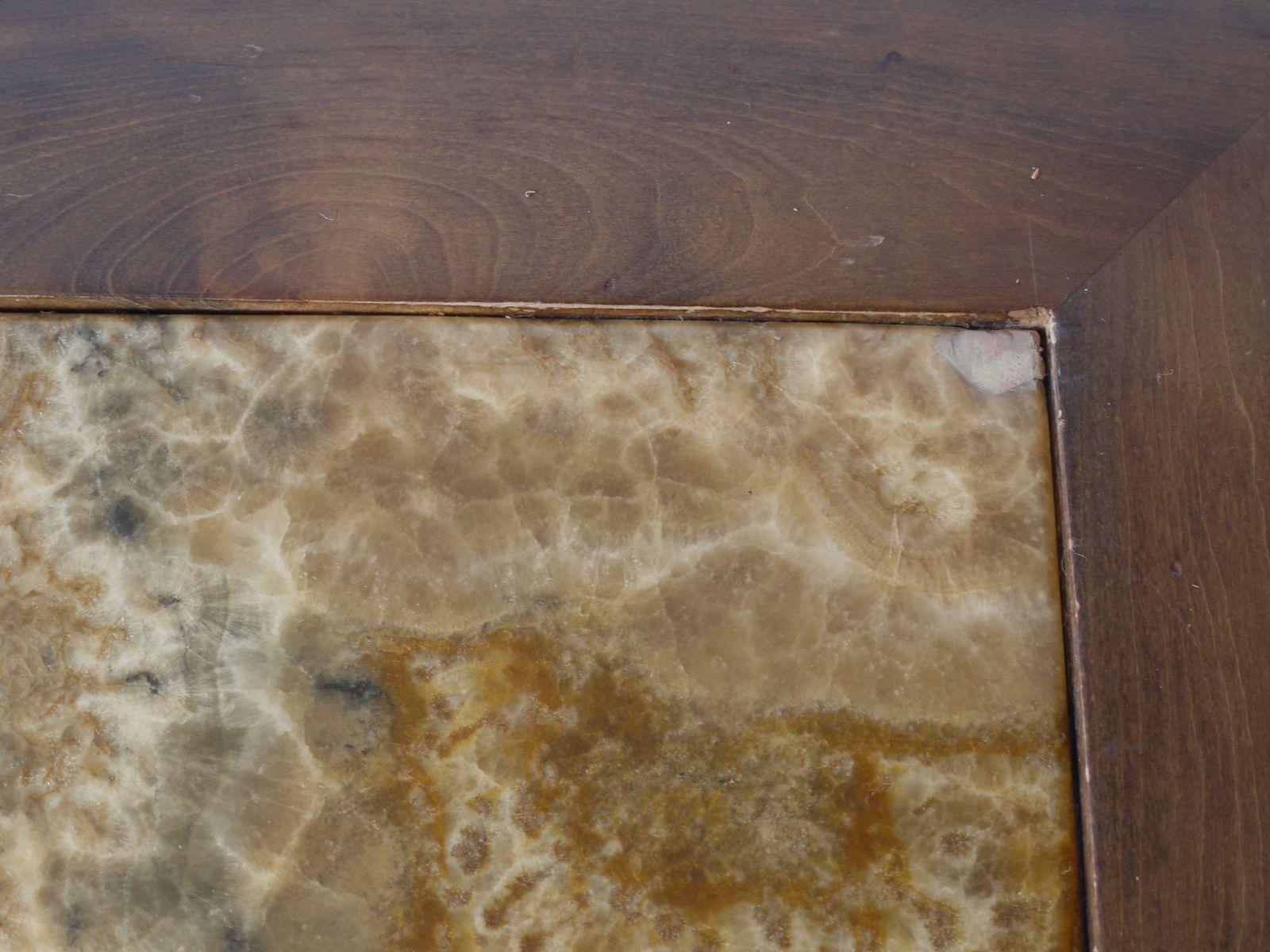 gro er l f rmiger marmor couchtisch 1970er bei pamono kaufen. Black Bedroom Furniture Sets. Home Design Ideas