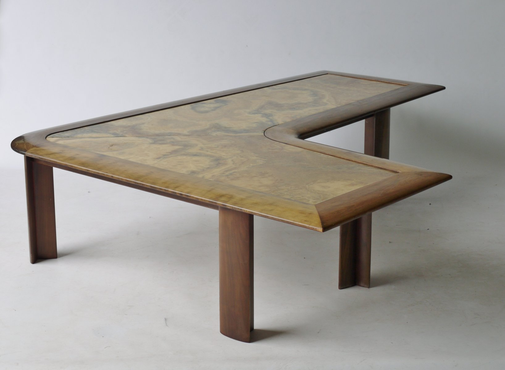 L Shaped Marble Coffee Table 1970s for sale at Pamono
