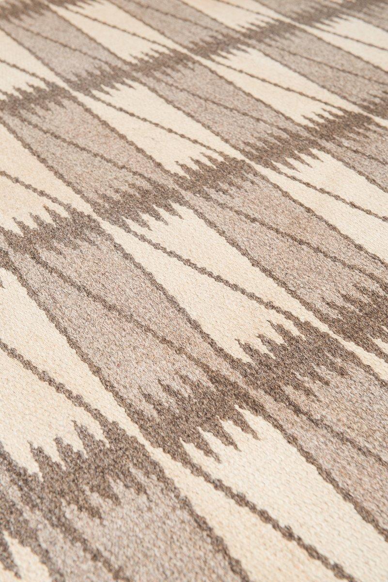 schwedischer mid century teppich mit geometrischem muster 1950er bei pamono kaufen. Black Bedroom Furniture Sets. Home Design Ideas