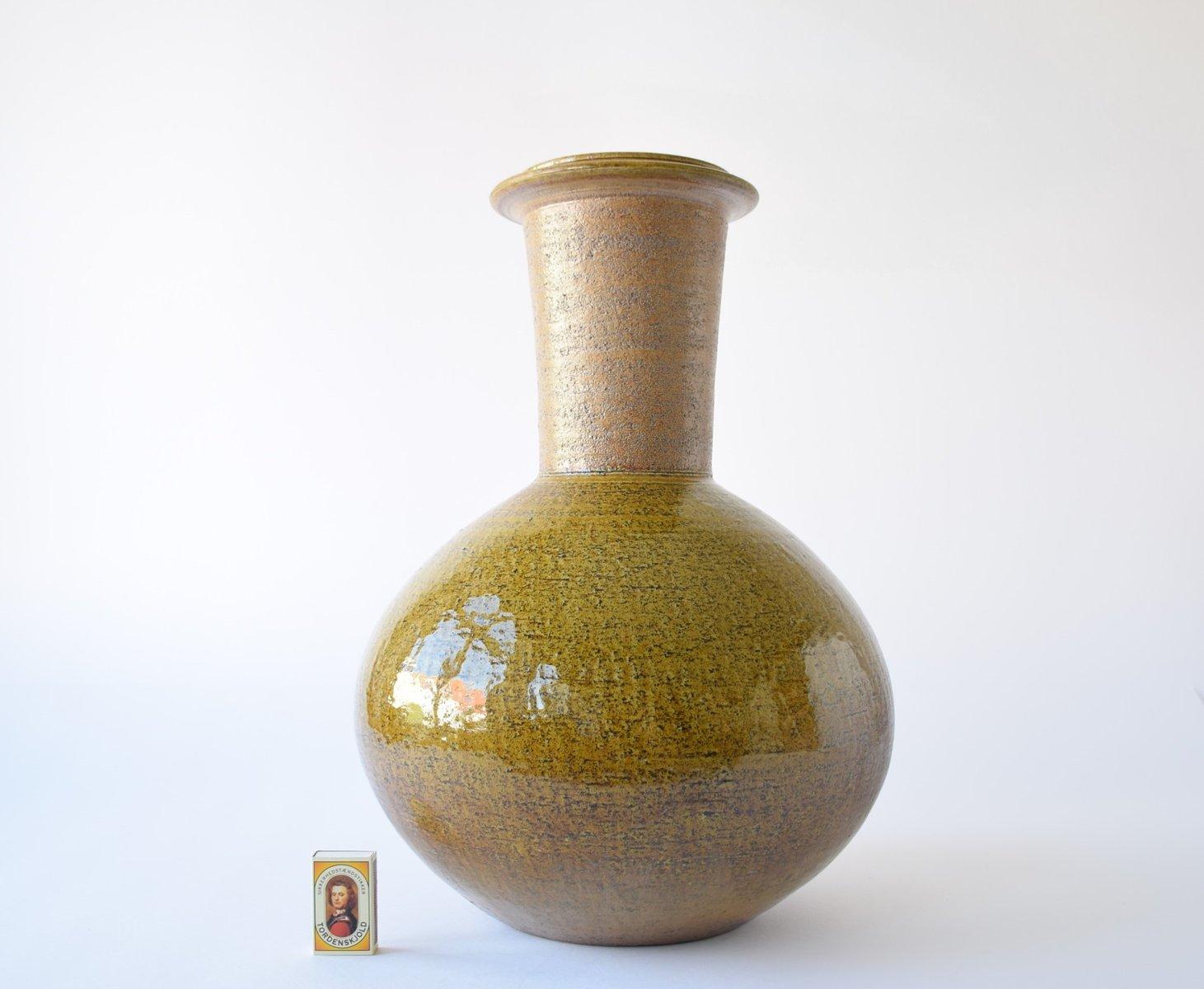 large danish floor vase by nils k hler for hak 1960s for sale at pamono. Black Bedroom Furniture Sets. Home Design Ideas