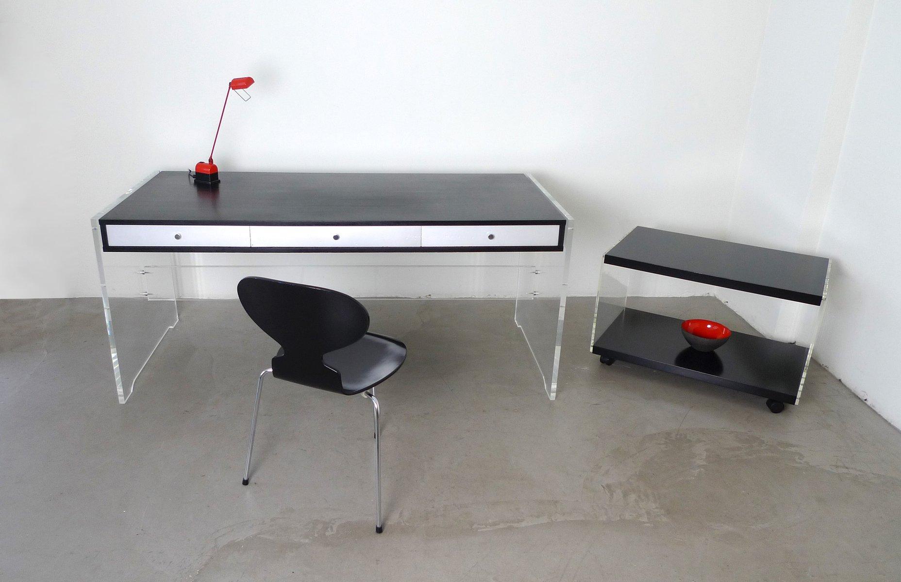 d nischer beistelltisch auf rollen von poul norreklit f r georg petersen 1970 bei pamono kaufen. Black Bedroom Furniture Sets. Home Design Ideas