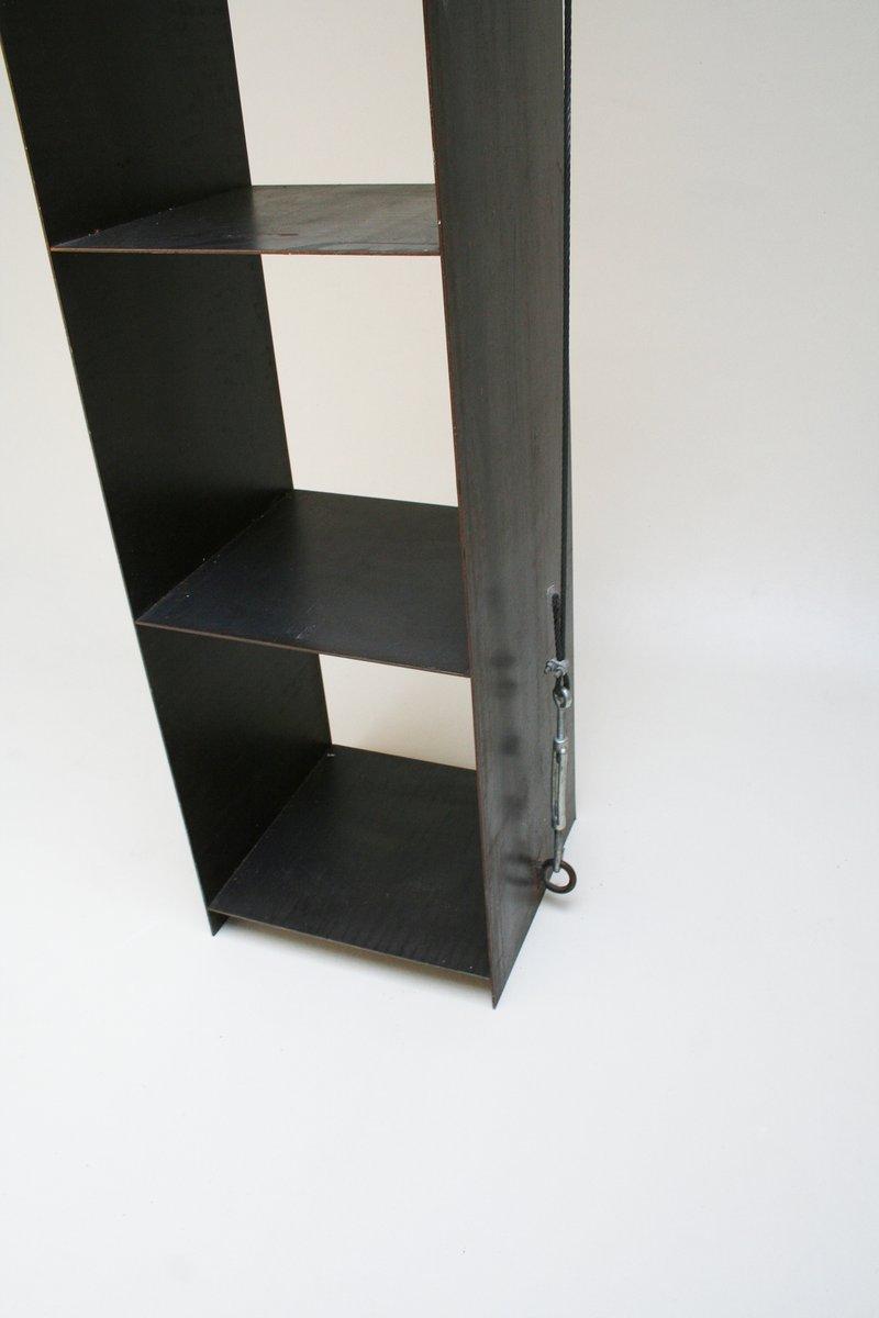 verspanntes regal aus stahl von prof wolfgang laubersheimer 1984 bei pamono kaufen. Black Bedroom Furniture Sets. Home Design Ideas
