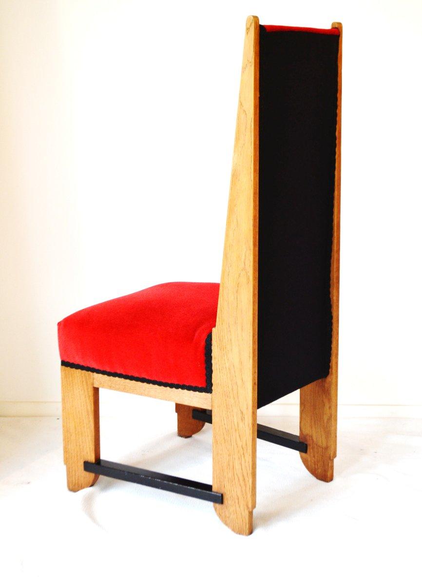 niederl ndische art deco esszimmerst hle aus eiche von lov. Black Bedroom Furniture Sets. Home Design Ideas