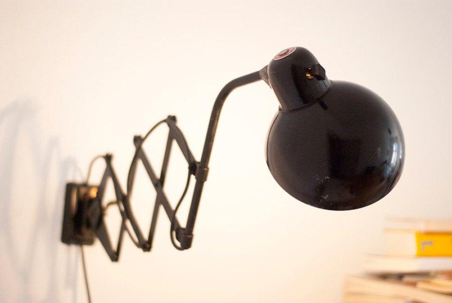 German Bauhaus Scissor Lamp By Christian Dell For Helo For