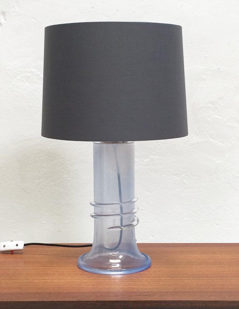Swedish Glass Table Lamp By Hannelore Dreutler For Studio Åhus, 1980s