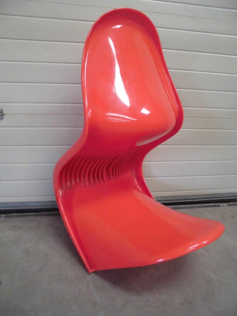 roter panton stuhl von verner panton f r herman miller. Black Bedroom Furniture Sets. Home Design Ideas