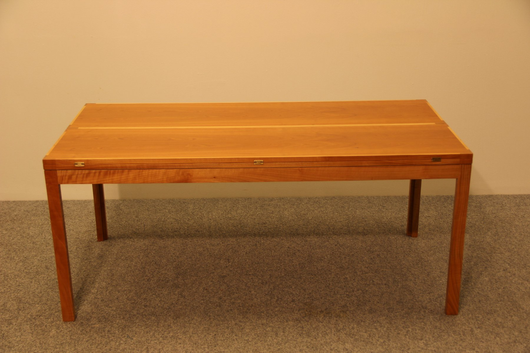 vintage extendible cherry coffee table by rud thygesen
