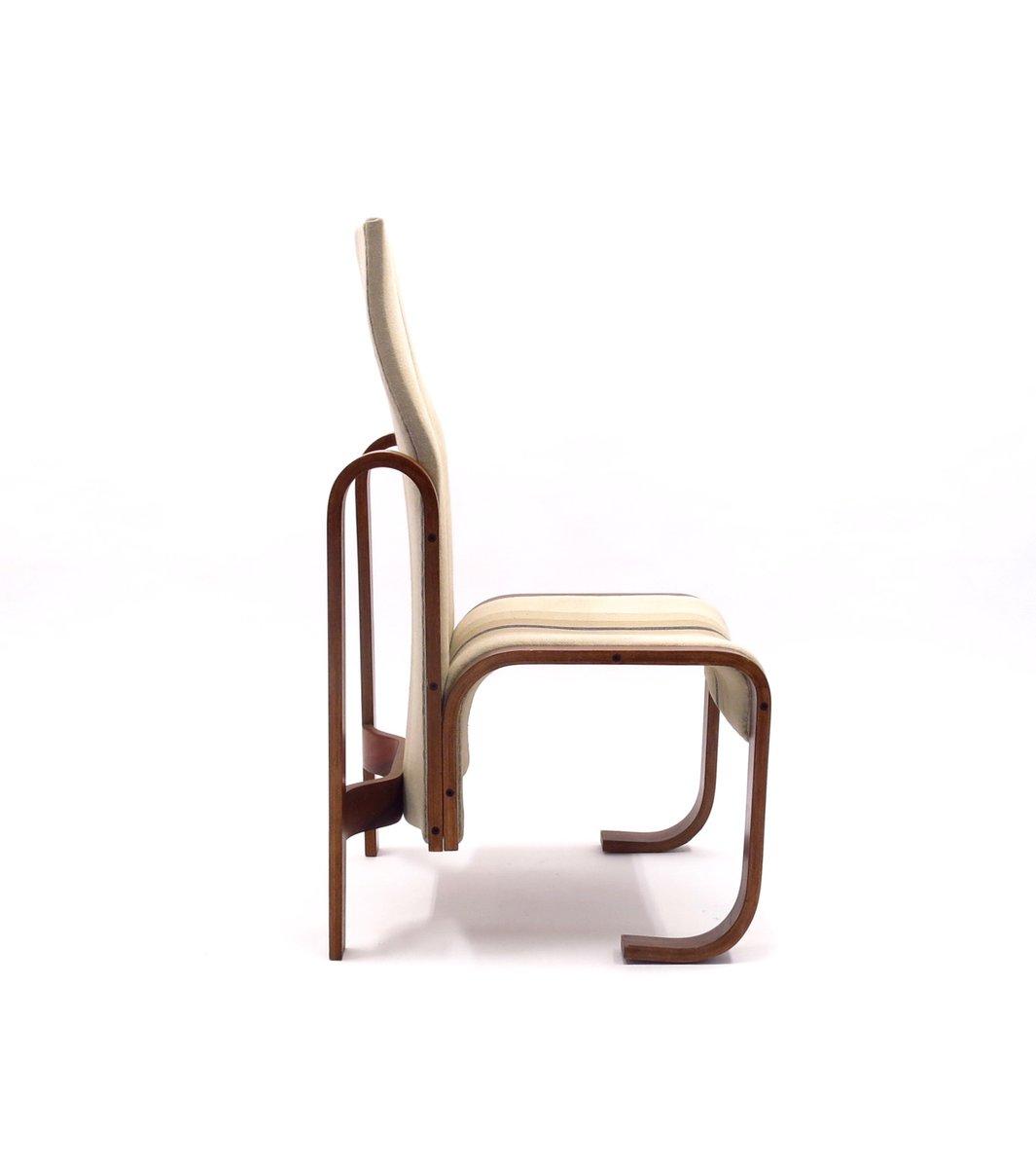 bugholz stuhl mit hoher r ckenlehne von jan bo an 1972 bei pamono kaufen. Black Bedroom Furniture Sets. Home Design Ideas