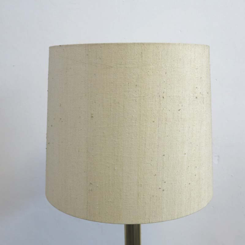 messing stehlampe mit lampenschirm aus stoff 1960er bei. Black Bedroom Furniture Sets. Home Design Ideas