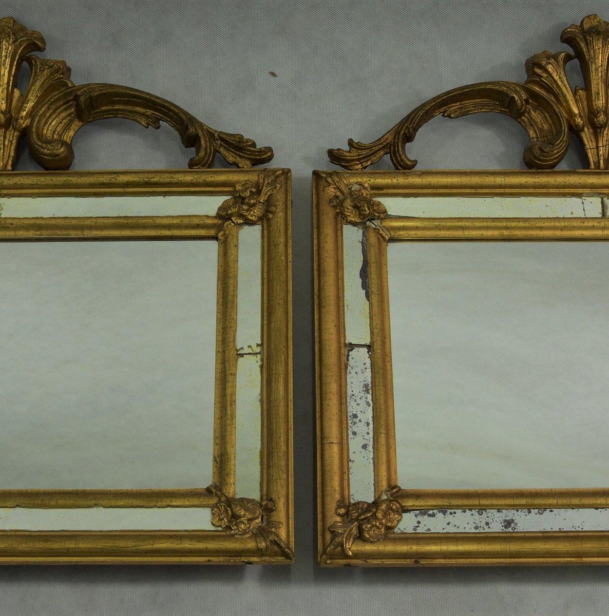 Antike Schwedische Spiegel, 2er Set