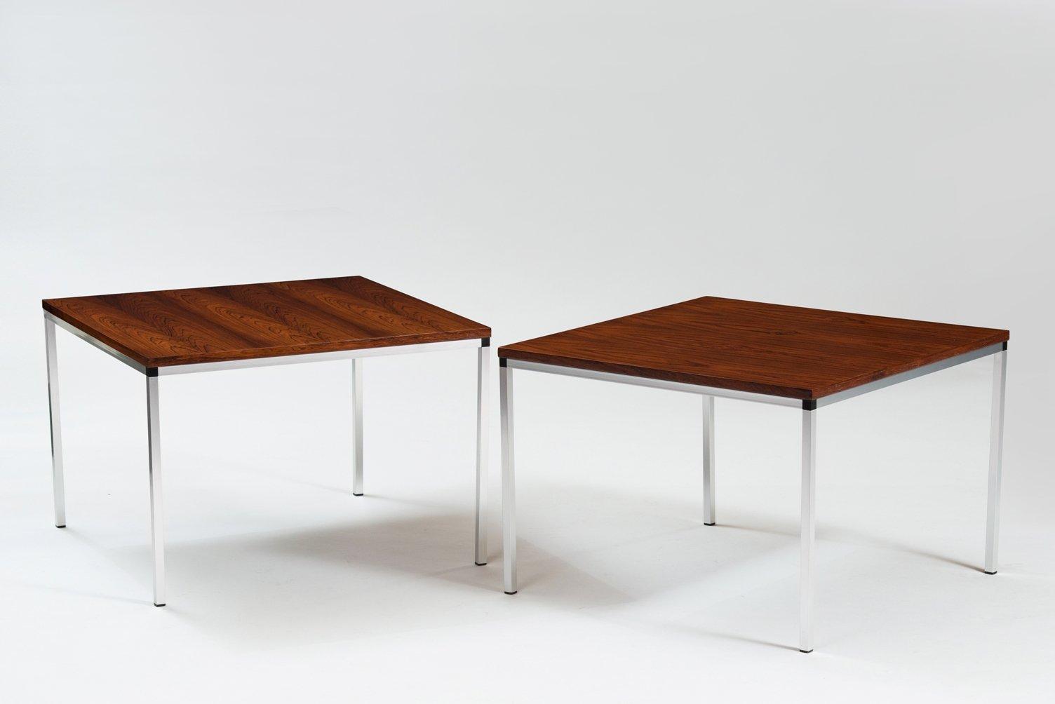 Vintage German Rosewood & Chrome Side Tables, Set of 2 for sale at ...