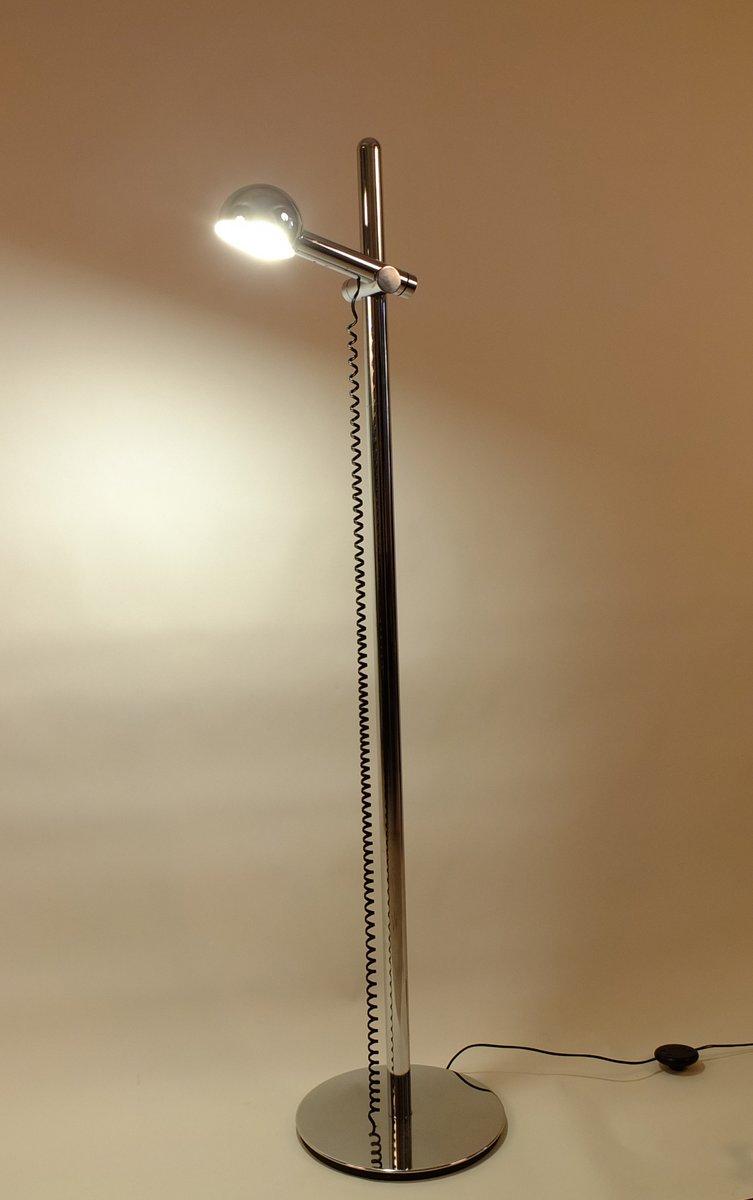 italienische stehlampe aus verchromten stahl 1970er bei pamono kaufen. Black Bedroom Furniture Sets. Home Design Ideas