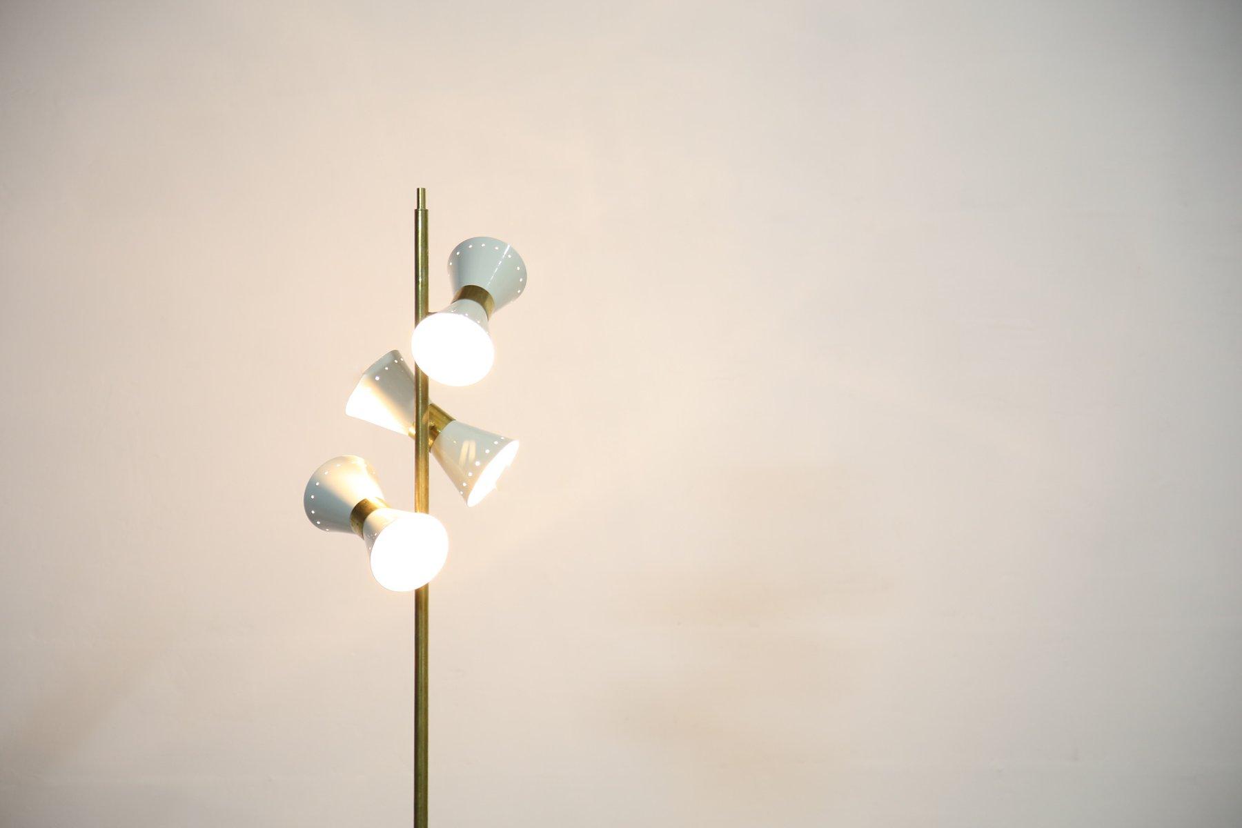 Italienische vintage 3 leuchten stehlampe bei pamono kaufen for Italienische leuchten