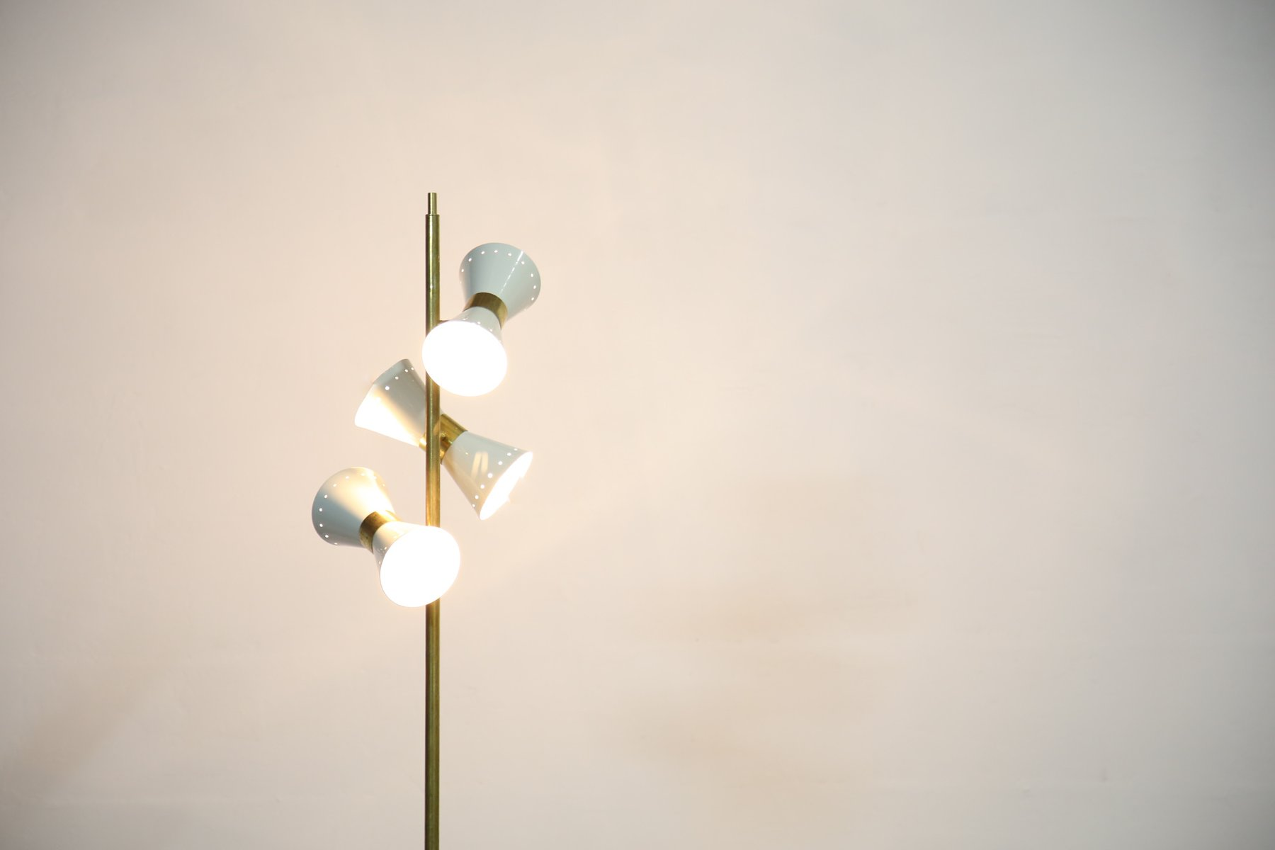 Vintage italian 3 light floor lamp for sale at pamono vintage italian 3 light floor lamp aloadofball Image collections