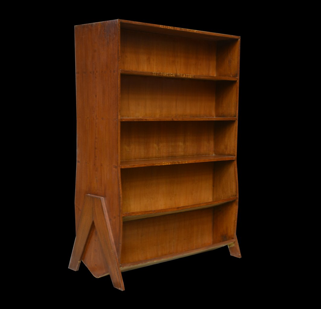 Indian Double Sided Bookcase By Pierre Jeanneret 1958