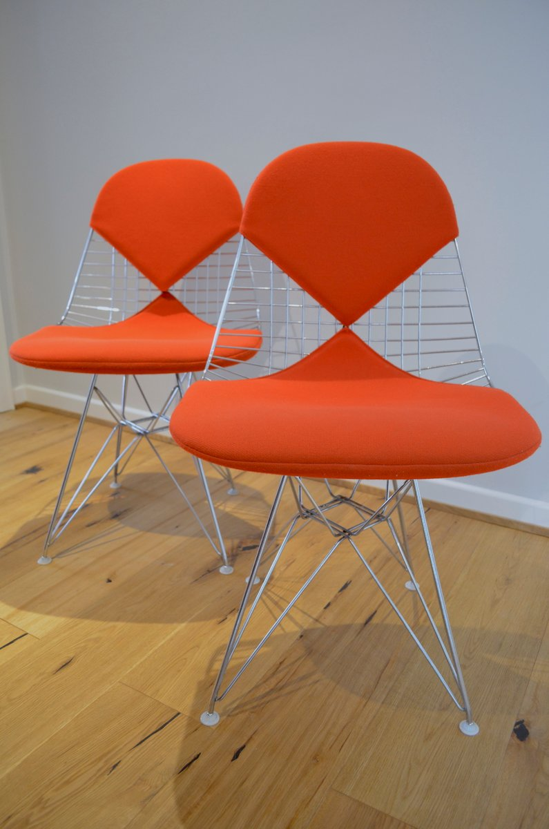 set of chair dkr chairs eames and miller for by charles herman ray
