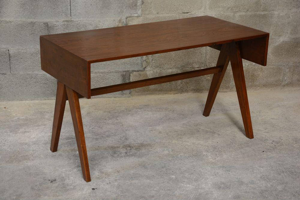 schreibpult von pierre jeanneret 1960 bei pamono kaufen. Black Bedroom Furniture Sets. Home Design Ideas