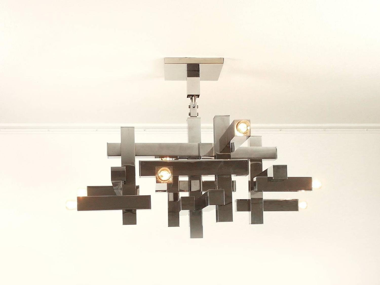 Italian Metric Chandelier By Gaetano Sciolari For Lightolier, 1960s For  Sale At Pamono