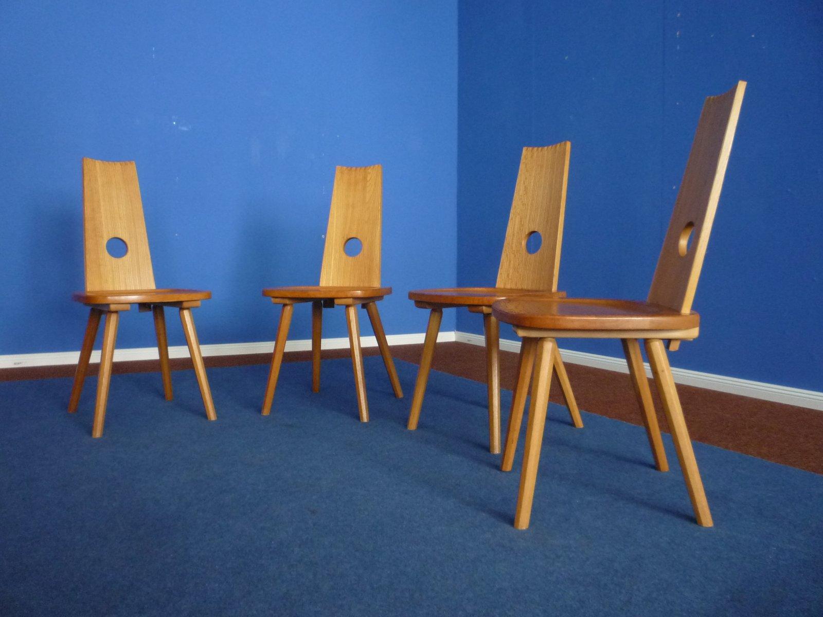 deutsche st hle aus massiven buchenholz 1950er 4er set bei pamono kaufen. Black Bedroom Furniture Sets. Home Design Ideas