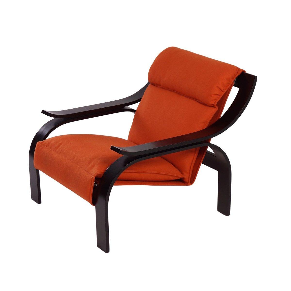 Marvelous Woodline Armchair By Marco Zanuso For Arflex, 1964