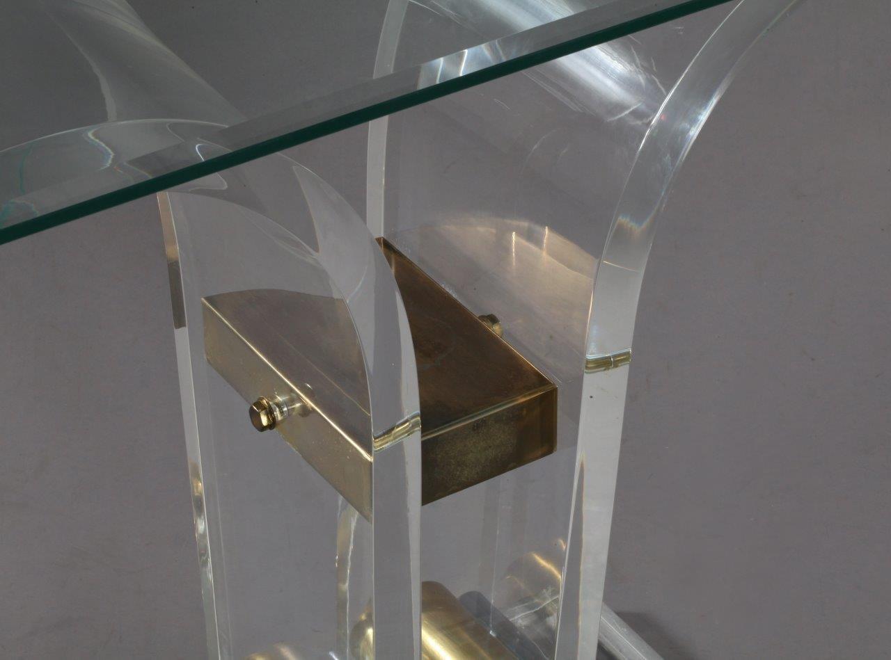 Franz sischer plexiglas beistelltisch 1970er bei pamono for Beistelltisch plexiglas