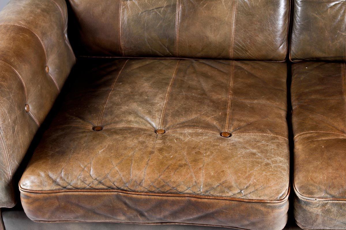 canap en teck en cuir de ope m bler su de 1960s en. Black Bedroom Furniture Sets. Home Design Ideas