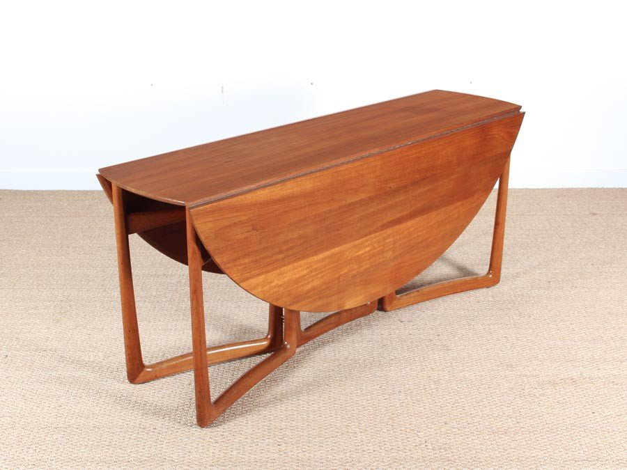 Mid Century Modern Teak 20/59 Folding Dining Table By Hvidt And Mølgaard  Nielsen For Sale At Pamono