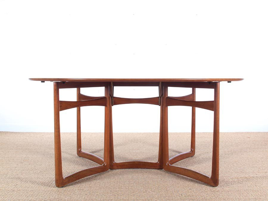 Mid Century Modern Teak 20/59 Folding Dining Table By Hvidt And Mølgaard  Nielsen