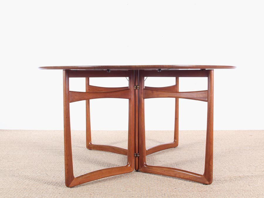 Mid Century Modern Teak 20/59 Folding Dining Table By Hvidt And Mølgaard  Nielsen