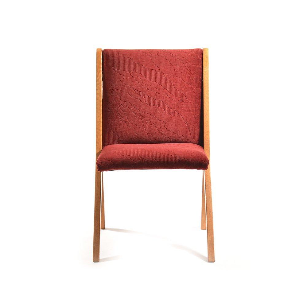 slowakische bordeaux st hle aus eiche 1970er 4er set bei. Black Bedroom Furniture Sets. Home Design Ideas