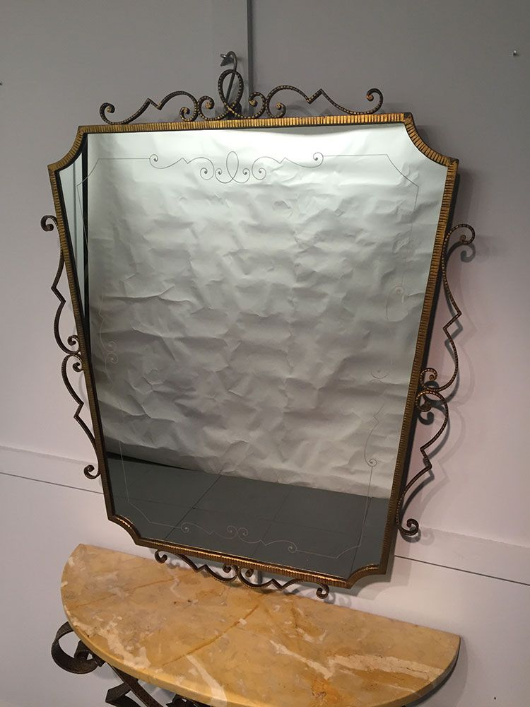 italienischer konsolentisch mit spiegel von pier luigi colli 1950er bei pamono kaufen. Black Bedroom Furniture Sets. Home Design Ideas