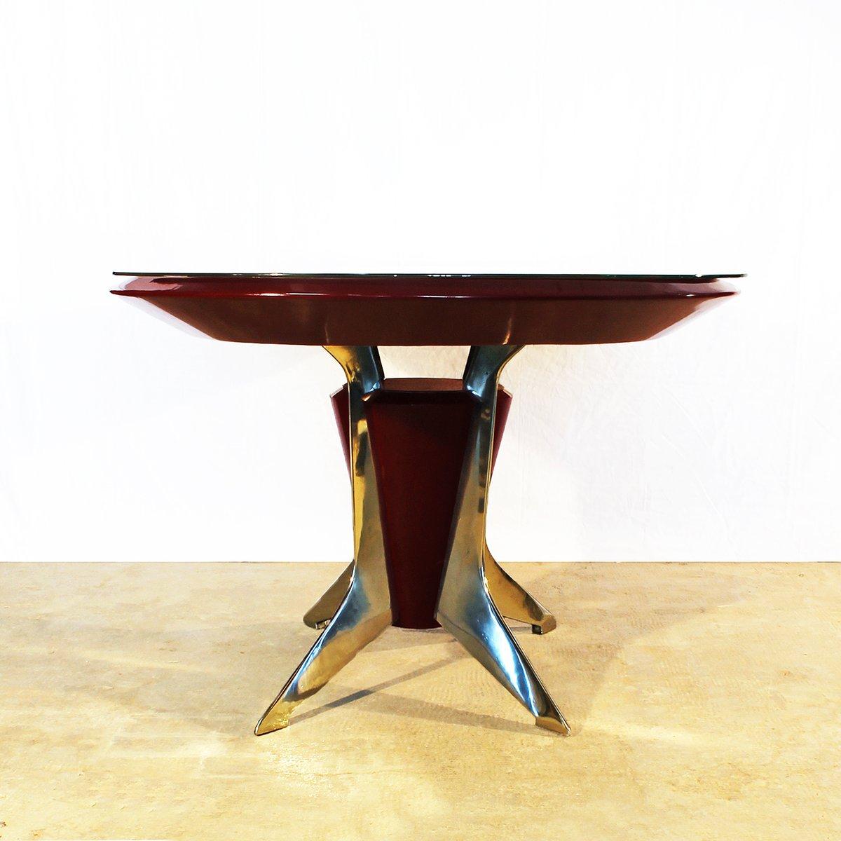 italienischer ovaler esstisch 1950er bei pamono kaufen. Black Bedroom Furniture Sets. Home Design Ideas