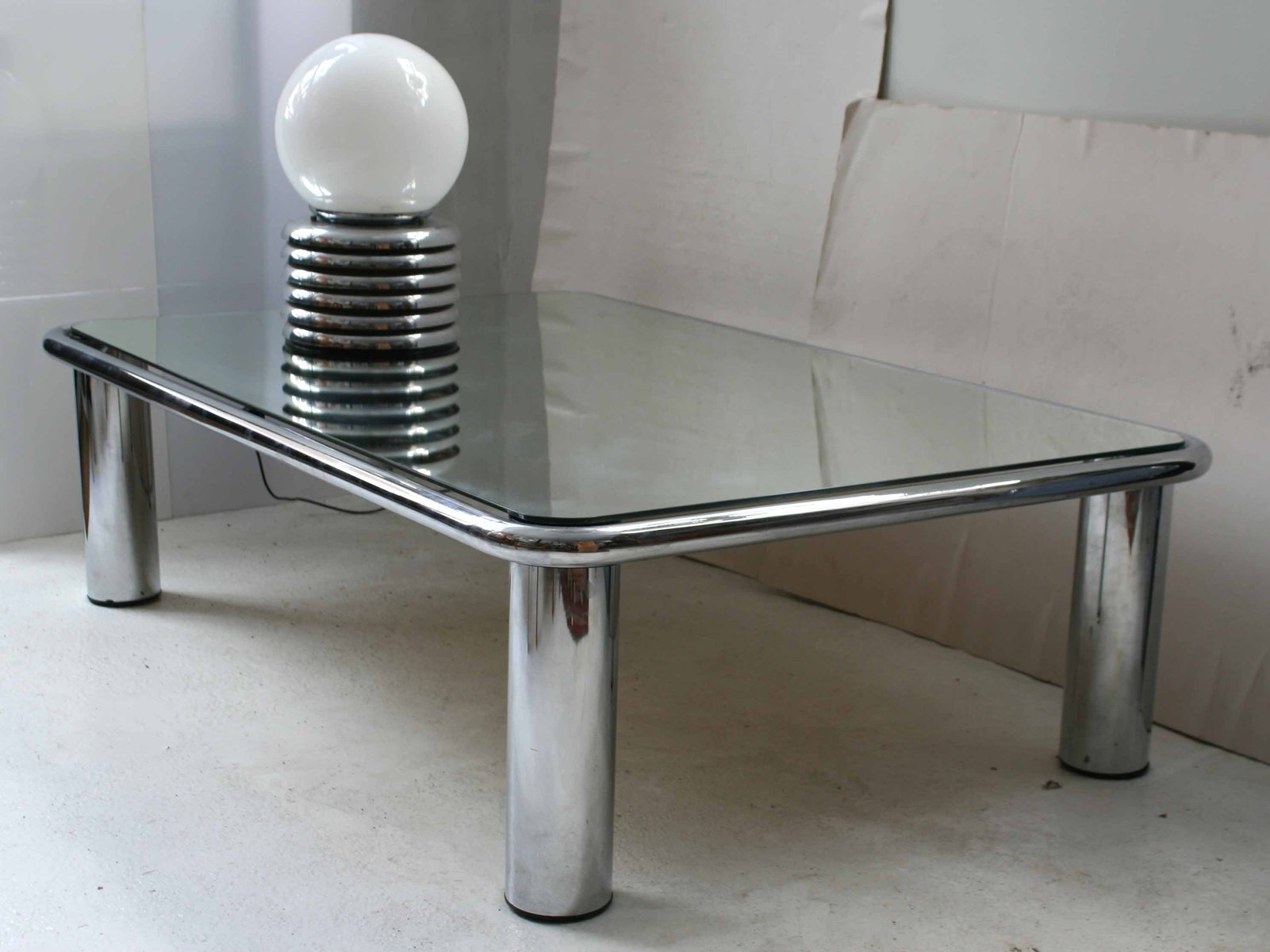 Mirrored Coffee Table by Mario Bellini for C&B Italia for sale at