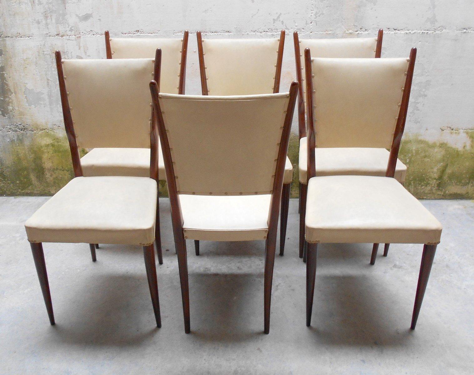 italienische vintage mahagoni st hle 1940er 6er set bei pamono kaufen. Black Bedroom Furniture Sets. Home Design Ideas