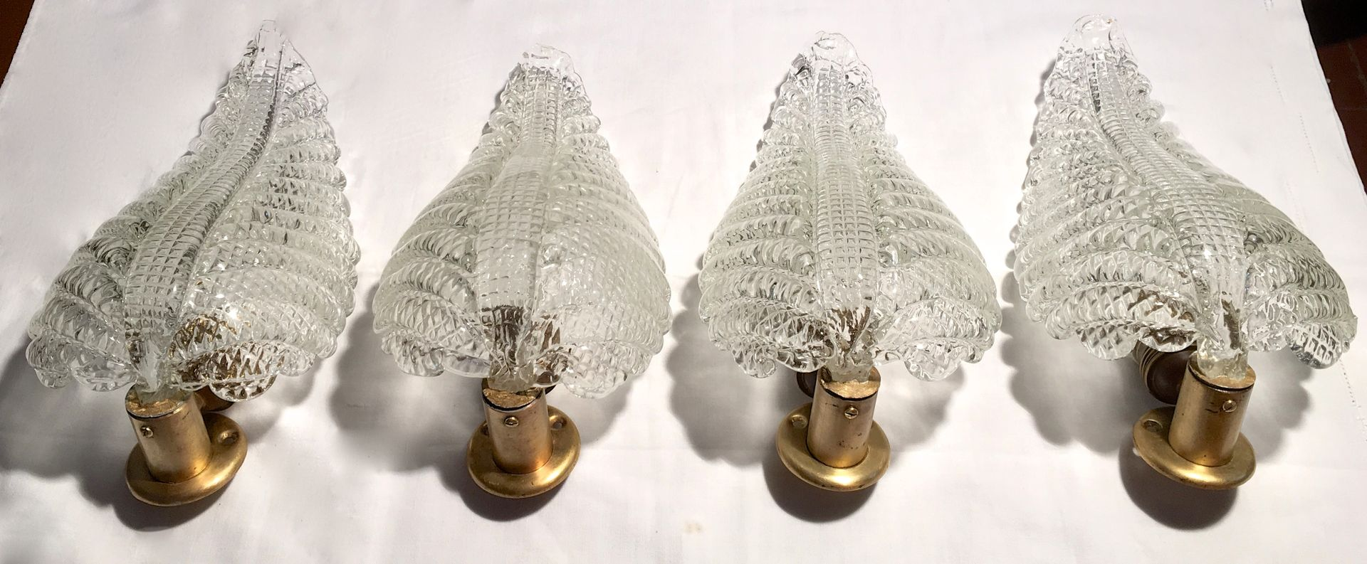 Gro e italienische wandlampe in pflanzenblatt optik von for Barovier e toso