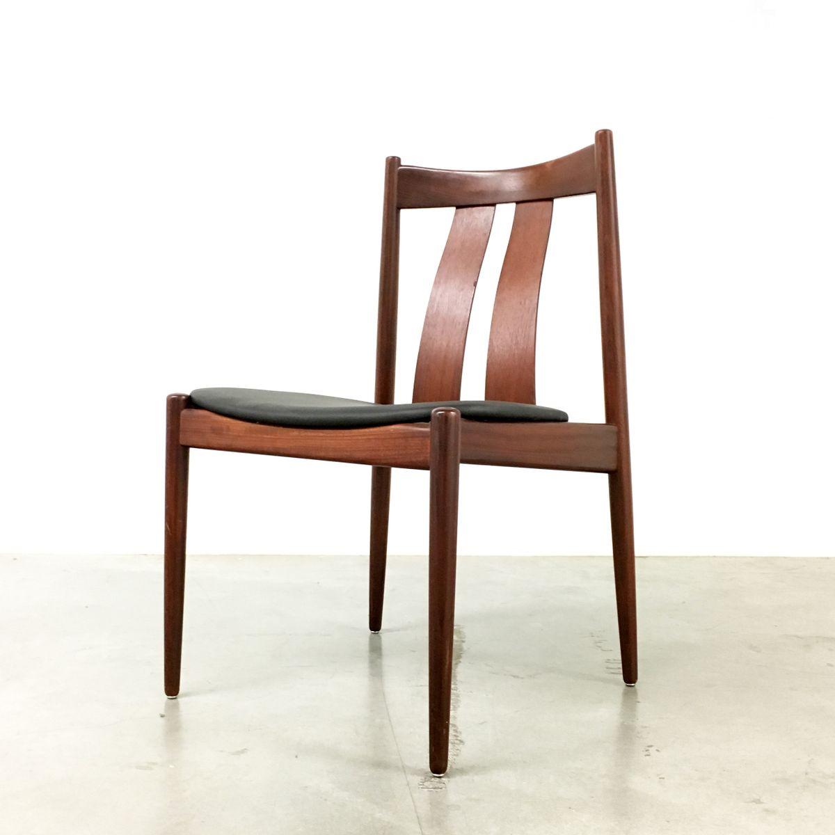 Chaise de salle manger de bramin danemark 1960s set for Salle a manger annee 1960