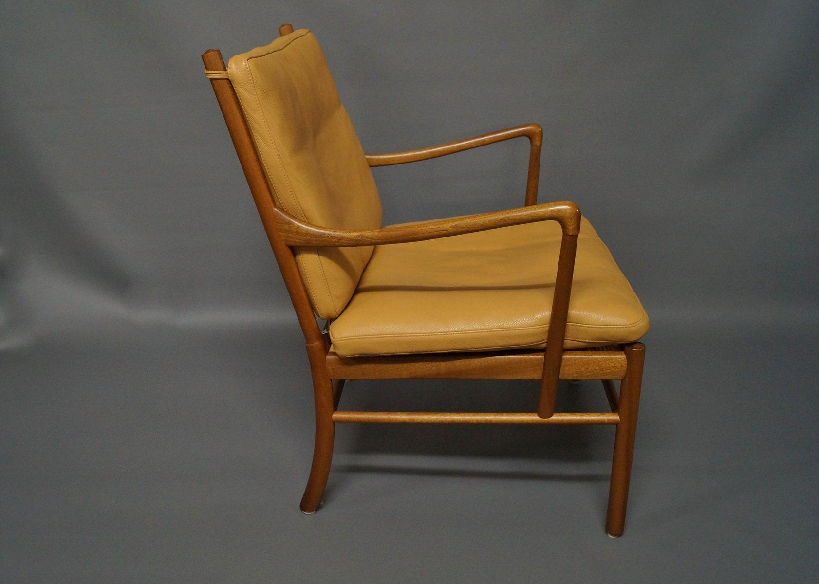 chaise coloniale pj149 pour ole wanscher pour p jeppesen. Black Bedroom Furniture Sets. Home Design Ideas