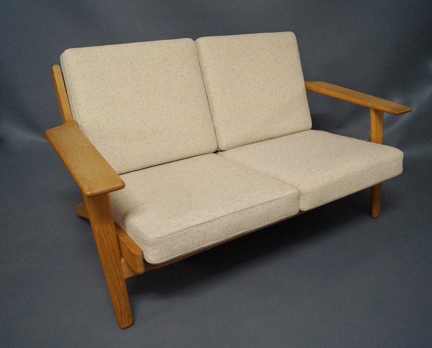 GE 290 Two Seater Sofa By Hans J. Wegner For Getama, 1960s
