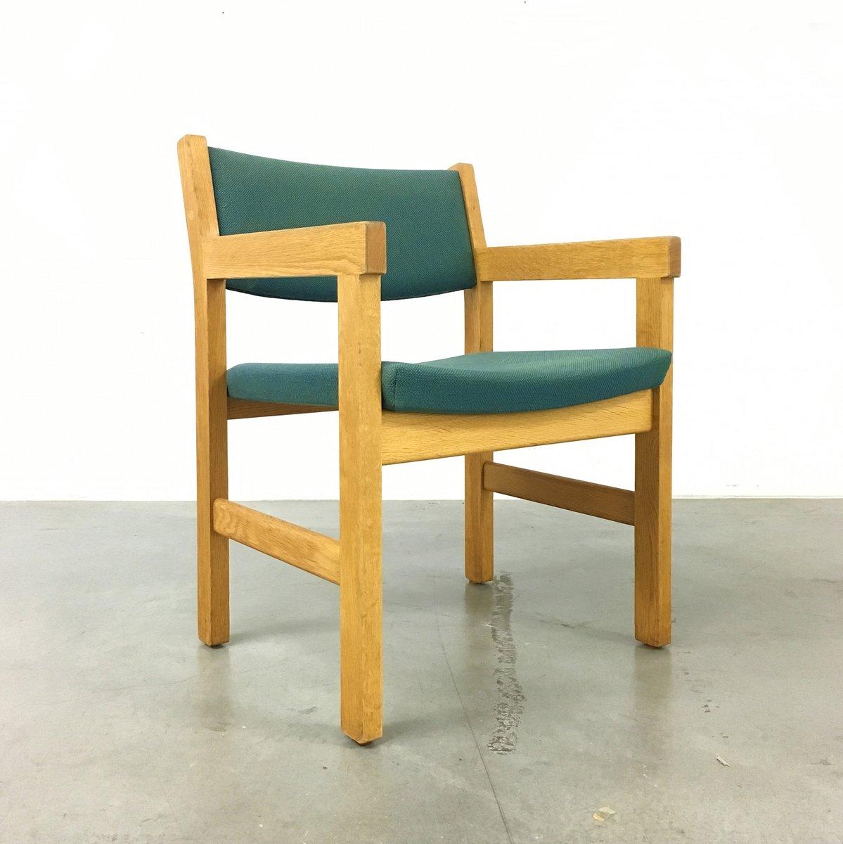 d nische armlehnensessel aus stoff und eichenholz von hans wegner f r getama 1970er 2er set. Black Bedroom Furniture Sets. Home Design Ideas