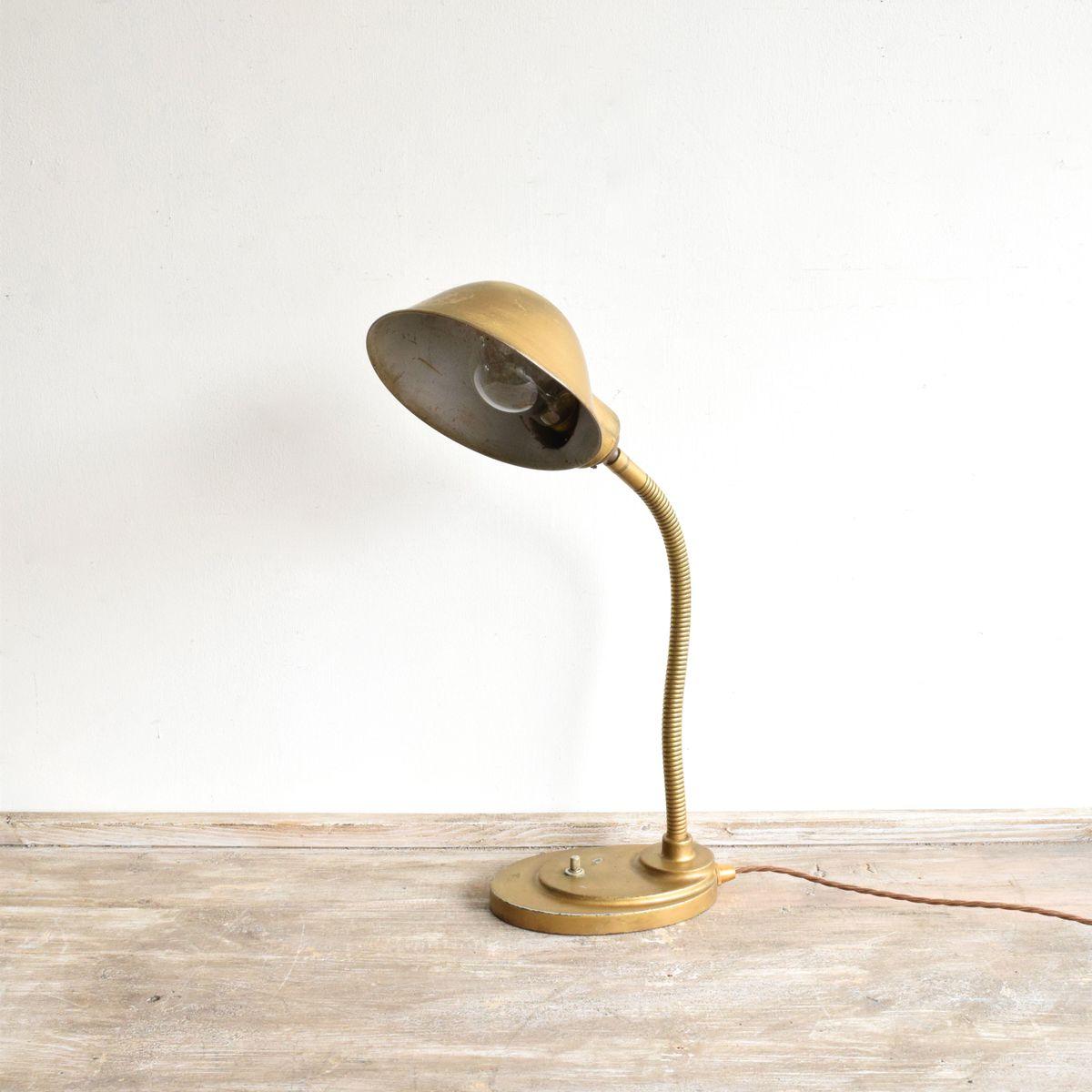 Goldene Tischlampe Mit Gelenk Bei Pamono Kaufen
